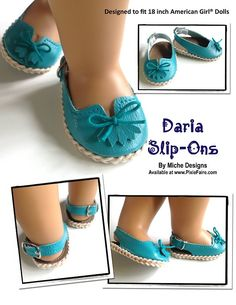 "Daria Slip-Ons 18"" Doll Shoes"