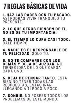 7 reglas básicas de vida