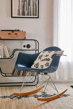 Modernica Fiberglass Arm Shell Rocking Chair - Urban Outfitters