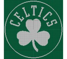 Boston Celtics Crochet Pattern Afghan Graph, $5.00... Pattern now available in MS Excel Format for easier following. More patterns available soon in this easier format!!!