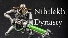 How to paint Nihilakh Dynasty Necron Warriors Support my channel with Patreon for as little as $1 USD a month: http://www.patreon.com/theapatheticfish  In this video I show you how I painted a Nihilak Dynasty Necron warrior for warhammer 40k.   Paint list: Leadbelcher Ironbreaker Necron Compound Balthasar's gold Gehena's gold Runefang Steel Steggadon Scale Green Sotek Green Caliban Green Warpstone glow Moot green Agrax Earthshade  Link to Facebook Page…