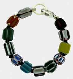 african trade bead bracelet - Jennifer Stock Designs