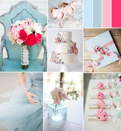 pink and light blue spring wedding color ideas #pinkweddingideas #weddingcolors #elegantweddinginvites