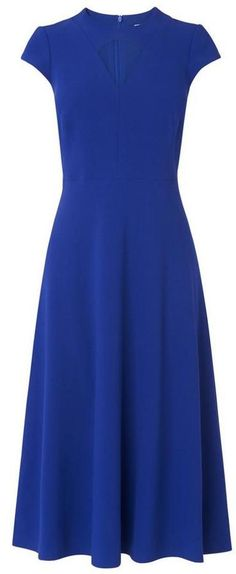 LK Bennett Cyra Blue Dress
