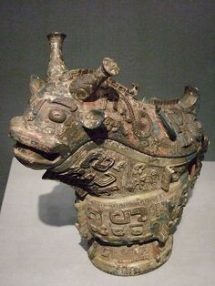 Ritual wine vessel 1300 to 1050 BCE China Shang dynasty  商代