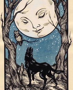 The origins of the Tarot are surrounded with myth and lore. The Tarot has been thought to come from places like India, Egypt, China and Morocco. Others say the Tarot was brought to us fr Art And Illustration, Art Illustrations, Arte Inspo, Kunst Inspo, Geometric Tatto, Art Vintage, Vintage Moon, Vintage Drawing, Retro Art