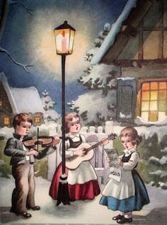 Old Christmas Post Cards — Christmas Carols (742x1000)