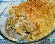 Receita de Bacalhau com broa de milho no forno #receita #comida #receitacaseira #comidadeverdade #bacalhau #bacalhaudesfiado Portuguese Recipes, Portuguese Food, Fish Dishes, Cooking Classes, Food For Thought, Macaroni And Cheese, Meal Planning, Seafood, Cooking Recipes