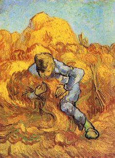Sheaf-Binder, The after Millet Vincent Van Gogh Reproduction | 1st Art Gallery