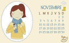 #calendario #descargable #noviembre #cortarpegarycantar