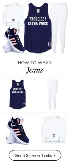 """:)"" by j-n-a on Polyvore featuring Proenza Schouler, adidas, women's clothing, women, female, woman, misses and juniors"