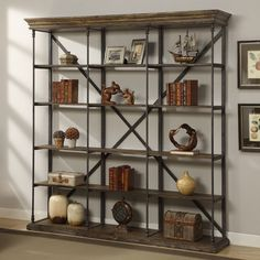 Industrial Bookcase Wood Rustic Shelving Storage Wall Home Living Room Unit Rustic Bookcase, Large Bookshelves, Large Bookcase, Etagere Bookcase, Rustic Shelving, Bookcase White, Metal Bookcase, Bookshelf Storage, Industrial Furniture
