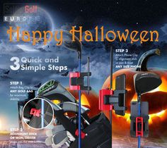 3 Quick and simple steps to use Selfiegolf Bag Clips, Golf Bags, Happy Halloween, Simple, Colors, Sports, Hs Sports, Excercise, Colour