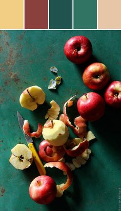 Peeling Apples By Lisa  Three of these 5 colors are what i want to decorate with Burgandy Green and Beige