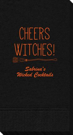 Personalized Cheers Witches Halloween Guest Towels
