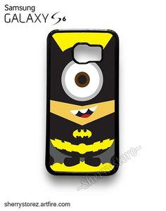 NEW Cute Despicable Me Minion Batman Samsung Galaxy S6 Case Cover