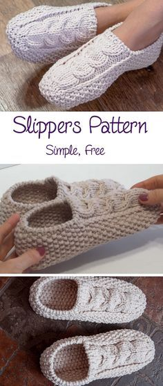 Today we are learning to make these beautiful slippers. In fact today's tutorial in for the knitted slippers and this knowledge will be a little bit tougher to transit into the crochet world, not… Crochet Socks, Knit Or Crochet, Knitting Socks, Crochet Crafts, Double Crochet, Knit Socks, Easy Crochet, Sewing Crafts, Knit Slippers Free Pattern