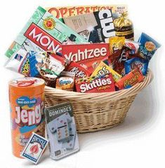 Family Game Night Basket For Silent Auction Gift Ideas Giftbasketideas Giftbaskets Themed