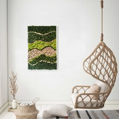 This beautiful moss frame is handmade with natural reindeer moss and has a waves design that makes it suitable to any interior style, from boho to contemporary. Neutral and natural interior styles are the most suitable. Contact us for more info Nature Decor, Boho Decor, Interior Styling, Interior Decorating, Moss Art, Natural Interior, Flower Letters, Wave Design, Unique Wall Art