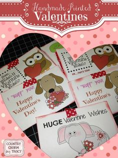 {Handmade Printed Valentines} with Free Printable
