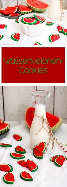 Egal ob für Kinder oder Erwachsene, diese kleinen Kekse in Wassermelonen-Optik kommen bei jedem gut an, das verspreche ich euch! Das Rezept für diese Wassermelonen-Cookies findet ihr auf dem Blog von Cook and Bake with Andrea.