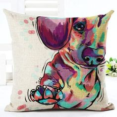 Cute Pet Series - Abstract Dog Pillow Covers