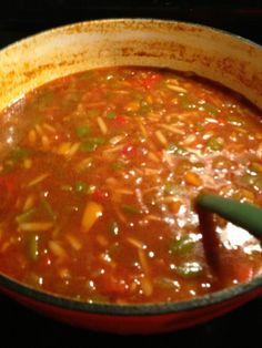 Stuffed Pepper Soup Crockpot Recipes, Soup Recipes, Cooking Recipes, Healthy Recipes, Yummy Recipes, Healthy Food, Recipies, Bowl Of Soup, Soup And Salad