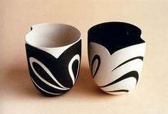 As a pair, they are gorgeous! I want them. #pottery