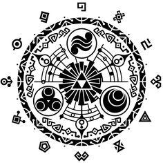 Mi 4to tatuaje inspirado en #TheLegendOfZelda! La puerta del tiempo!!