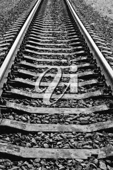 iPHOTOS.com - Rails. Black and white photo