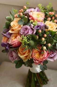 Wonderful combination of flowers and colors ! Exotic Flowers, Faux Flowers, Beautiful Flowers, Tropical Flowers, Purple Flowers, Deco Floral, Arte Floral, Beautiful Flower Arrangements, Floral Arrangements