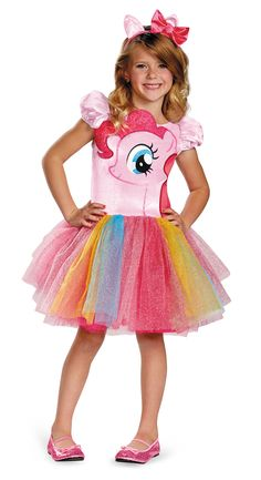 My Little Pony Pinkie Pie Tutu Dress Prestige Girls Costume