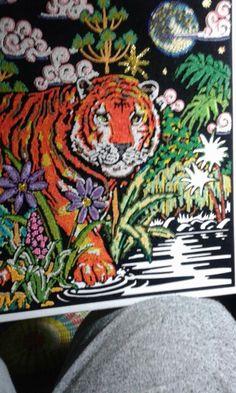 Filigraan  tijger bijna af