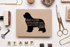 Custom Hand Drawn Dog Address Stamp Any Breed by Sparkvites
