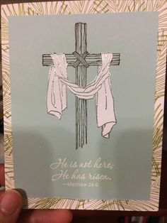 Stampin Up Easter Message and embossing powder.