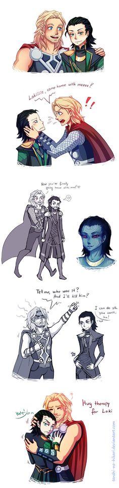 Thor and Loki doodledump by Tenshi-no-Hikari