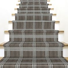 Carpet Stair Runners For Sale Deep Carpet Cleaning, How To Clean Carpet, White Stair Risers, Types Of Flooring, Carpet Styles, Carpet Flooring, Carpet Runner, Pattern Fashion, Area Rugs