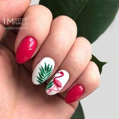 Flamingo Tropical Nail Art Perfect Summer Accent For Season Manicure . - Flamingo Tropical Nail Art Perfect Summer Accent For Season Manicure Fingernägel Tropical Nail Designs, Tropical Nail Art, Cute Summer Nail Designs, Cute Summer Nails, Summer Beach Nails, Beach Nail Art, Beach Vacation Nails, Nail Art Ideas For Summer, Beach Nail Designs