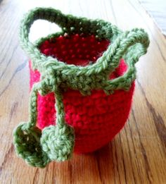 Handmade Crochet Teacher Lunch Fruit  Apple Cozy by CanyonRiver, $6.00