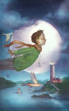 The Boy Who Could Fly Without a Motor (Society of Illustrators)- Greg Swearingen