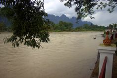 The Nam Song River in Vang Vieng District, Vientiane Province, Lao PDR