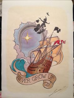 Hey, I found this really awesome Etsy listing at https://www.etsy.com/listing/181618158/tattoo-print-peter-pan