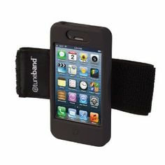 Tuneband for iPhone 4 & iPhone 4S, Black, Grantwood Technology's Armband, Silicone Skin, and Front/Back Screen Protector by Grantwood Technology