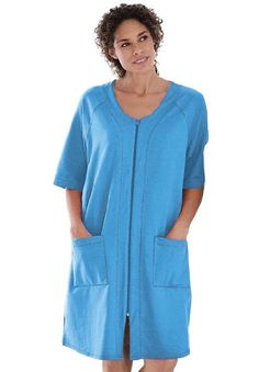 ae32188e31 Dreams And Company Plus Size Short French Terry Robe  19.99  topseller Plus  Size Robes