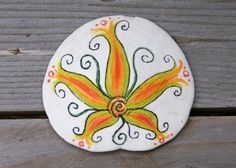 hand painted sand dollar magnet