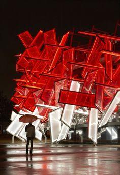 Coca Cola beatbox, London, 2012 by Pernilla & Asif #architecture #design #pavilion #temporary #installation #exhibition #olympics #cocacola