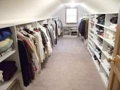 10 Accomplished Clever Tips: Attic Closet How To Build attic apartment sleeping nook.Attic Closet How To Build. Attic Wardrobe, Attic Closet, Closet Bedroom, Attic House, Attic Office, Closet Wall, Corner Office, Attic Playroom, Master Closet