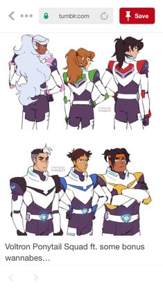 Keith and Pidge's are a bit over exaggerated, but sure.