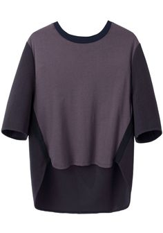 3.1 Phillip Lim Ottoman Knit Tee | La Garçonne  tonal piecings