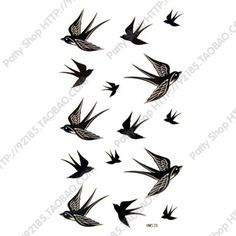 Free Shipping Waterproof Tattoo Stickers Female The Trend Of Swallow Small Drawing Makeup Style Sexy Waist Tattoos Tattoo Ink US $5.08